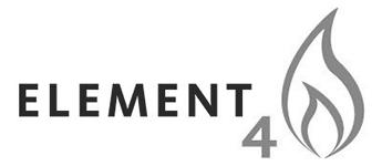Logo Element 4 Cheminées contemporaines Sparte Saint Orens Toulouse poêle à granulés