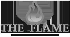 Logo the flame Cheminées contemporaines Sparte Saint Orens Toulouse poêle à granulés